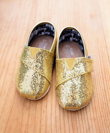 ad06be95788 TOMS are on Zulilly!!!! Take a look at this Gold Glitter Classics - Tiny on   zulily today!