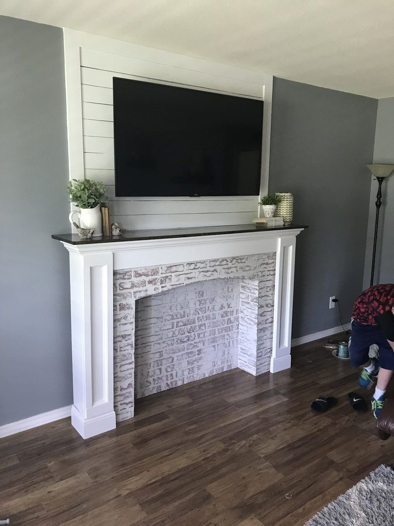 You have the ability to then put in a wall mounted mantel on your ...