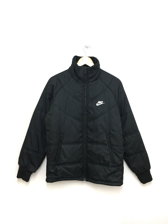 Rare Nike Puffer Jacket Black Color Medium Size Etsy Nike Puffer Jacket Puffer Jacket Black Jackets [ jpg ]