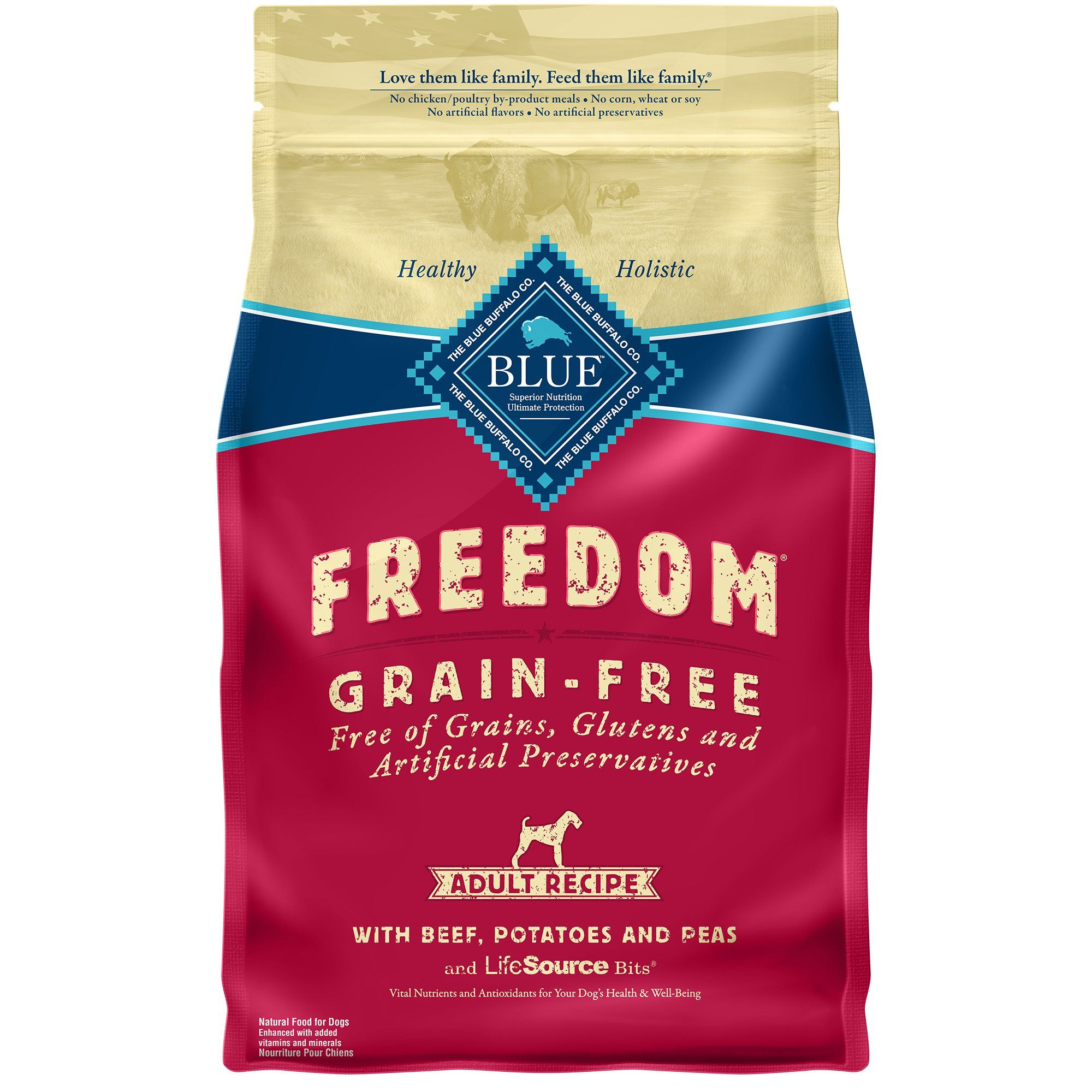 Blue Buffalo Blue Freedom Grain Free Adult Beef Recipe Dry Dog