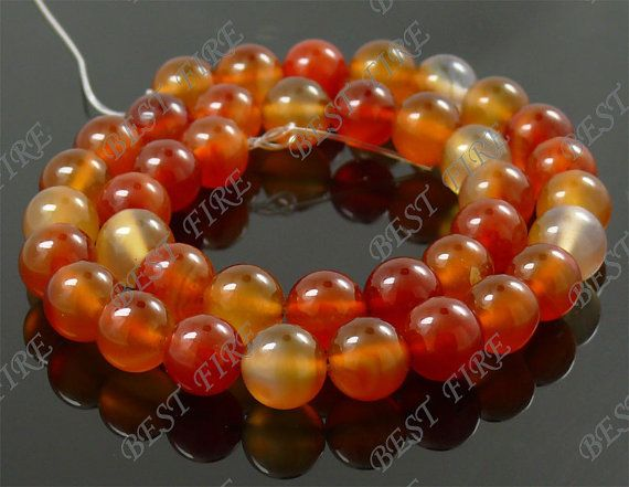 10mm of Red  Agate Round  beads loose strandgemstone by bestfire, $3.98