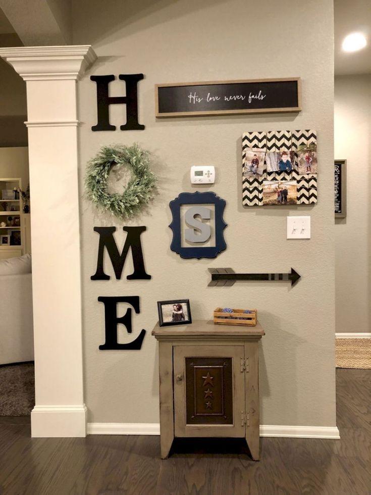 60 Inspiring DIY Farmhouse Wall Decorations Ideas On A Budget – Home  #budget #Decorations #D…
