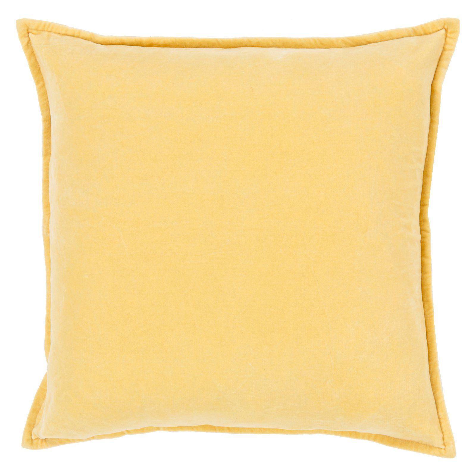 Surya Smooth Velvet Decorative Throw Pillow Lime Green