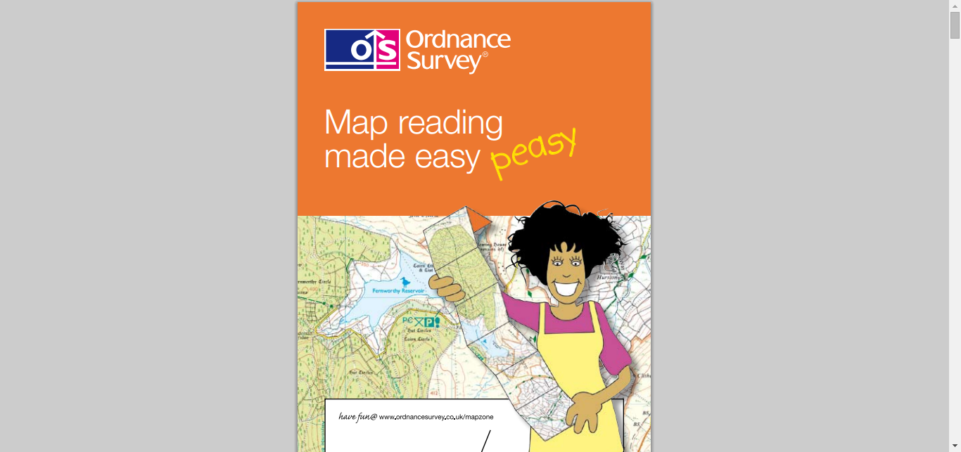 Map reading made easy from Ordnance survey  mapzone