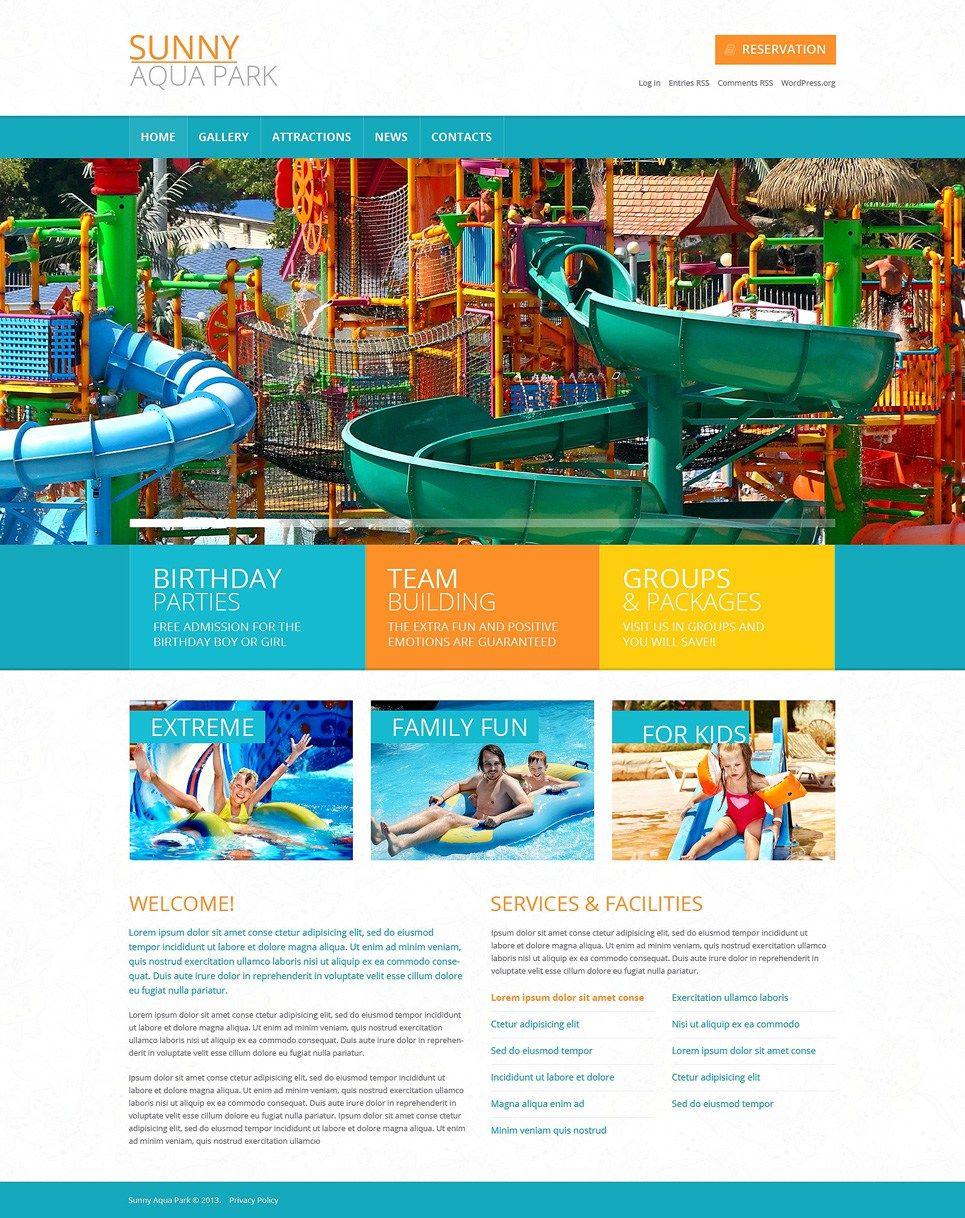 Amut Water Park WordPress Themes Sunny Aqua Theme Item Picture