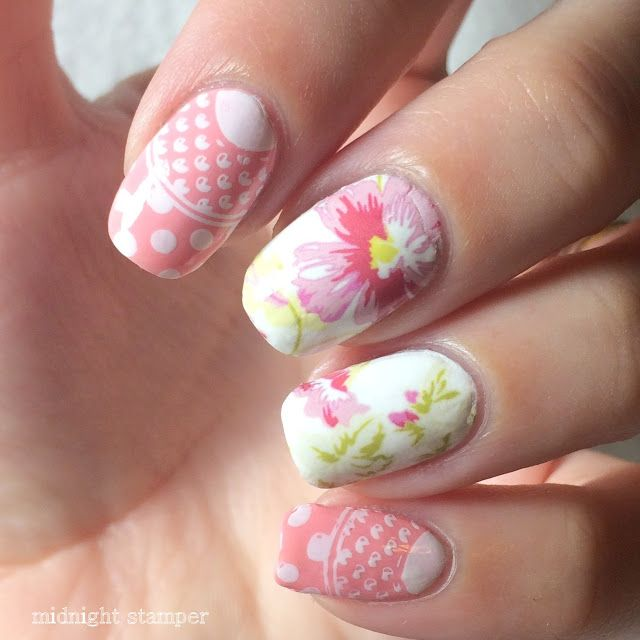 Midnight Stamper Simple Sunday Pink Teacup Nails Ft Moyou London