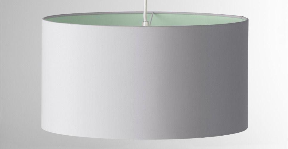 May Lampenschirm 45 Cm Pastellgrün Und Grau Made Com