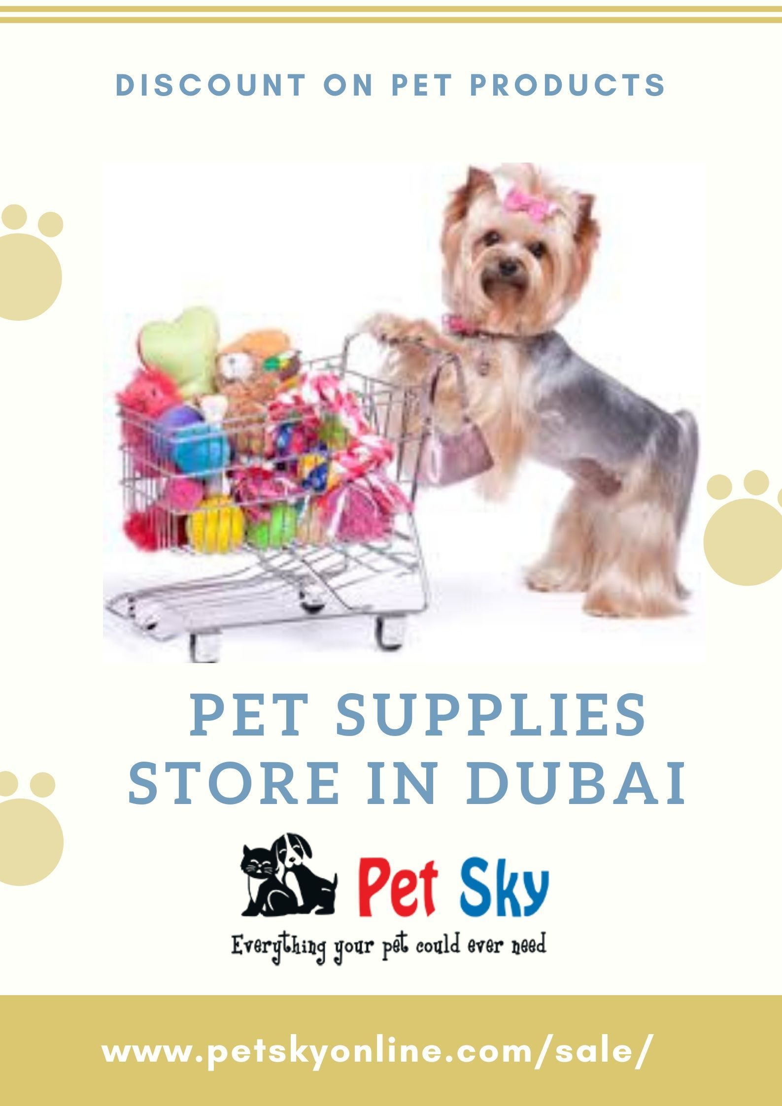 Pet Sky offering a discount on pet products in Dubai. We