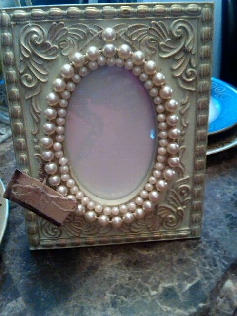 Just add your special something to an old frame and have fun!!!!! Create Beautiful by: Carol Penhale