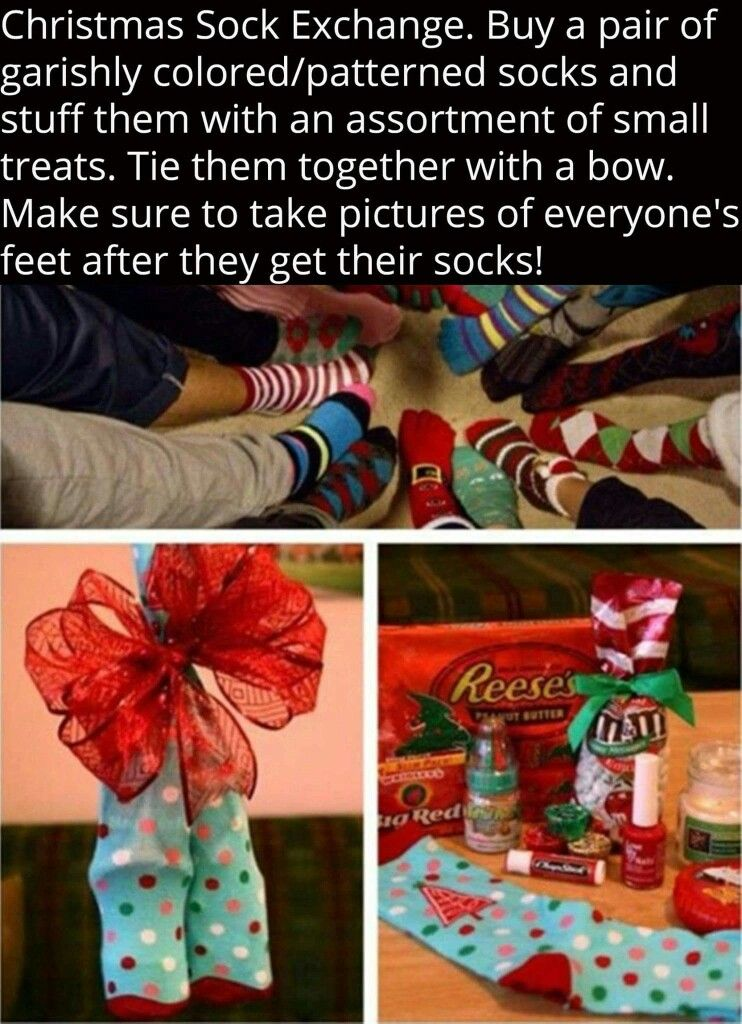 Cute Idea For Christmas Gatherings Christmas Socks Exchange Christmas Gift Exchange Christmas Activities