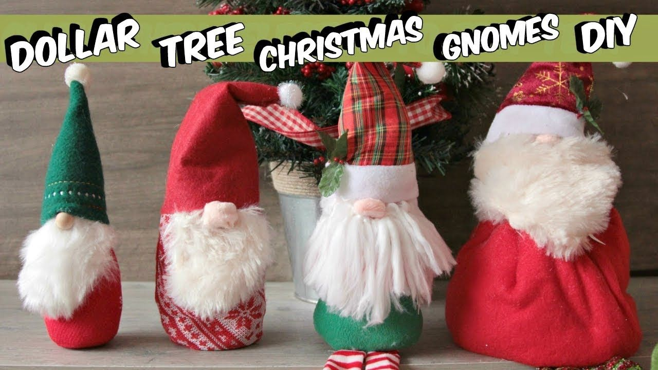 Dollar Tree Gnome Christmas Ornaments DIY YouTube Diy