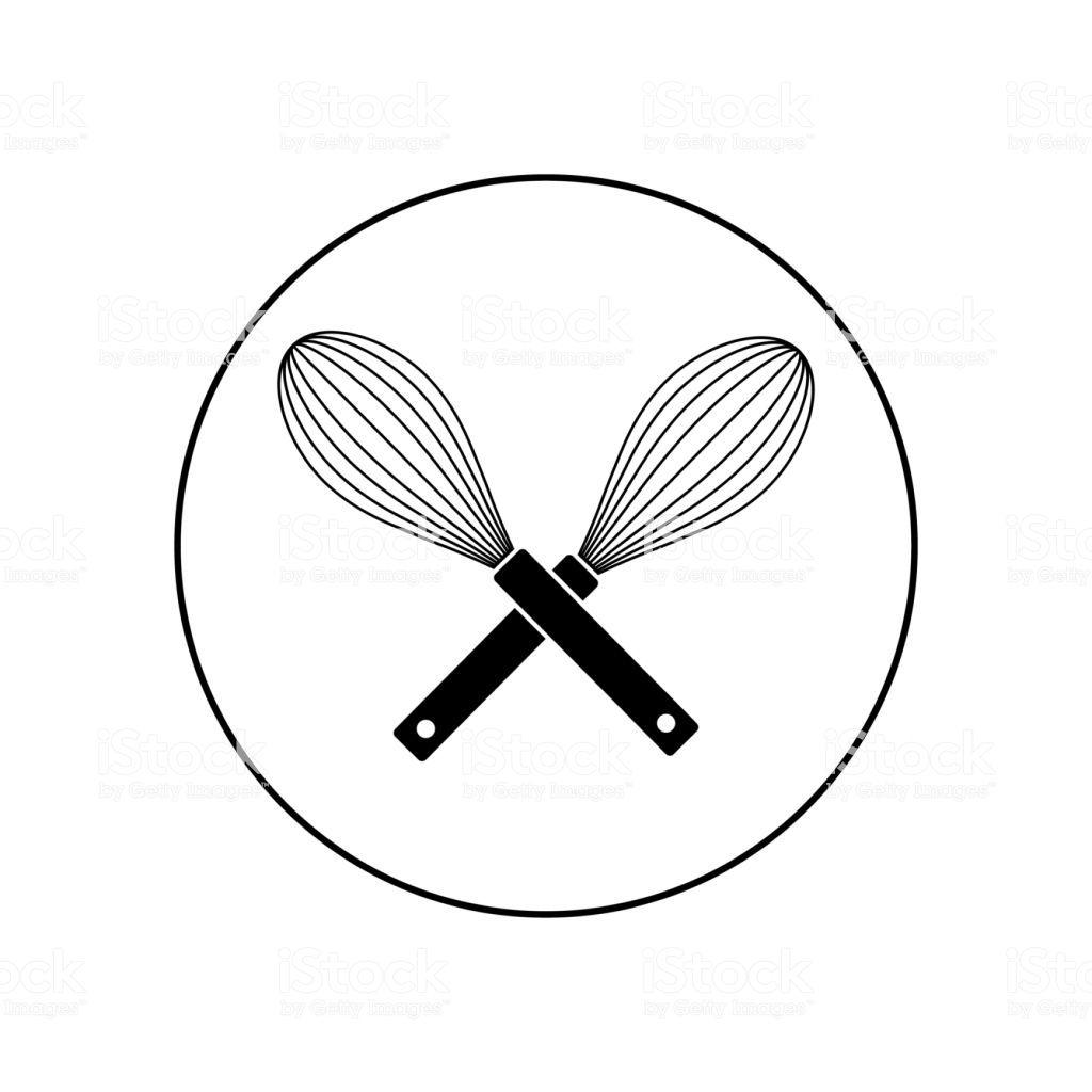 Black Vector Whisk Icon Bakery Logo Design Bakery Logo Icon