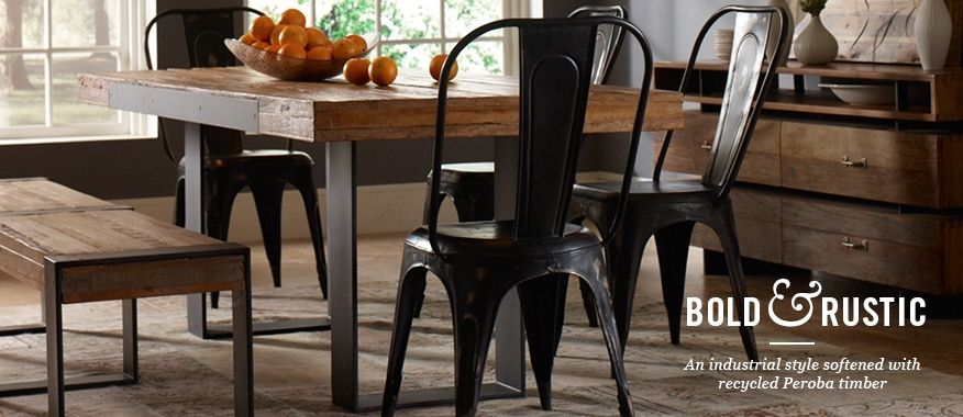Bold Industrial Wayfair Dining Table designed with recycled