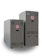 Split-System Heating & Cooling Products  A split-system home comfort system uses an outdoor (air conditioner or heat pump) and indoor (gas furnace, air handler or oil furnace) to deliver comfortable air to a living environment.