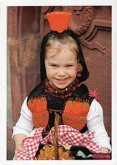 Gemany    Traditional costume of Rotkappchenland ( Little Red Riding Hood Land ), Gemany