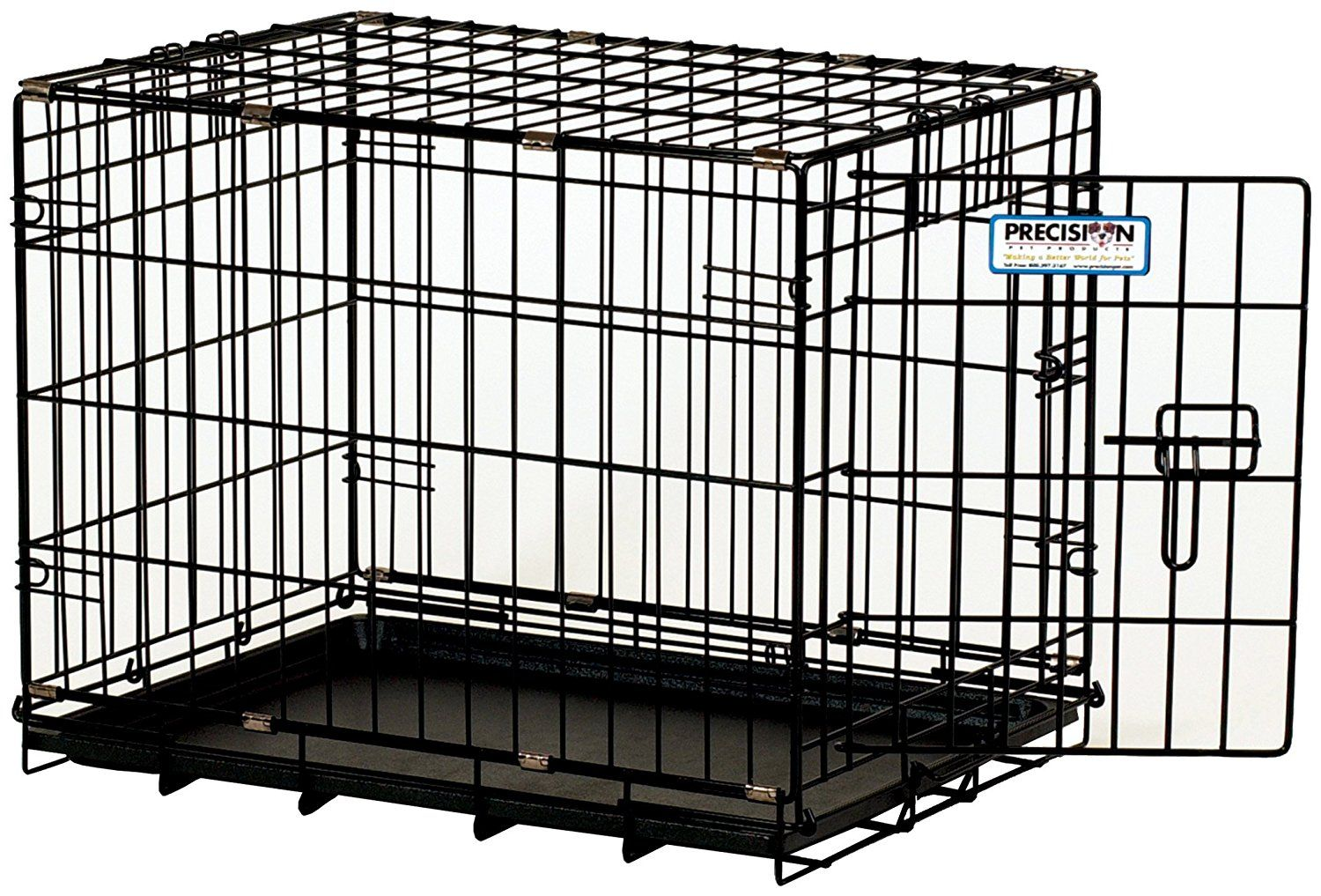 Provalu Single Door Dog Crate In Black Check Out This Great Image This Is An Amazon Affiliate Link I May Earn Commission From With Images Dog Crate Dog Cages Crates