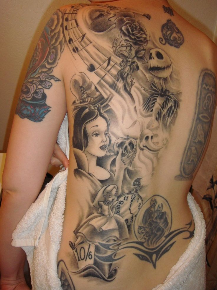Image Result For Jwoww Disney Tattoo Sleeve Disney Sleeve Tattoos Back Piece Tattoo Pieces Tattoo
