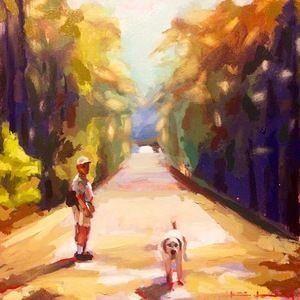 Mr. Turner | oil on panel | 12x12 || www.katiejacobsonart.com