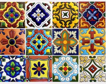 10 large mexican or spanish style tiles for home decor for Azulejos estilo mexicano