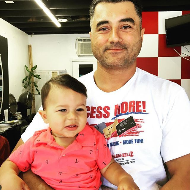 Dylans 1st Haircut Father And Son Hair Cuts Freshfriday