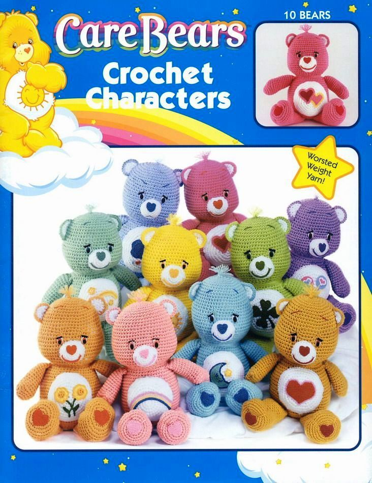 Free Craft eBooks: Care Bears Crochet Characters   Kids Party Ideas ...