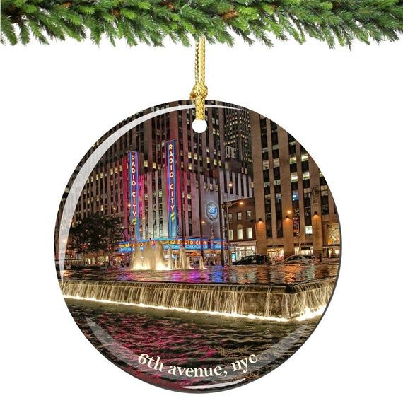 6th Ave and Radio City Porcelain Christmas Ornament ...