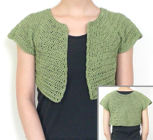 Crochet Short Shrug Pattern Crochet Pattern Classic Bolero