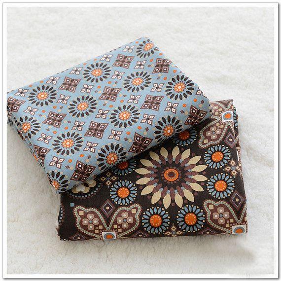 Cotton fabirc Floral texture for bag purse etc. Medium by zoooop