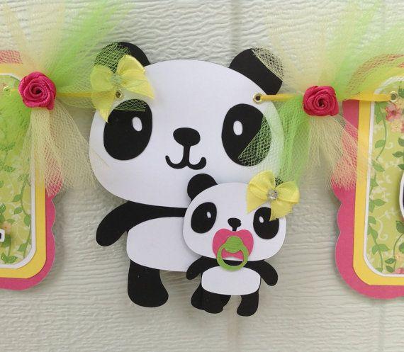 Mama Panda And Baby Panda Baby Shower By NancysBannerBoutique,