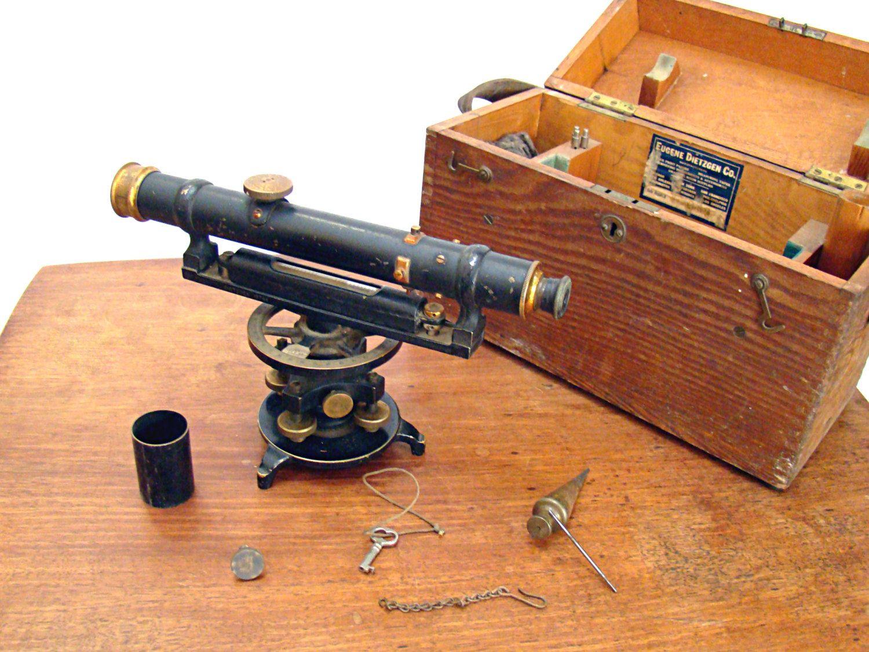 Vintage Dieztgen Co Survey Scope Survey Level Survey Equipment
