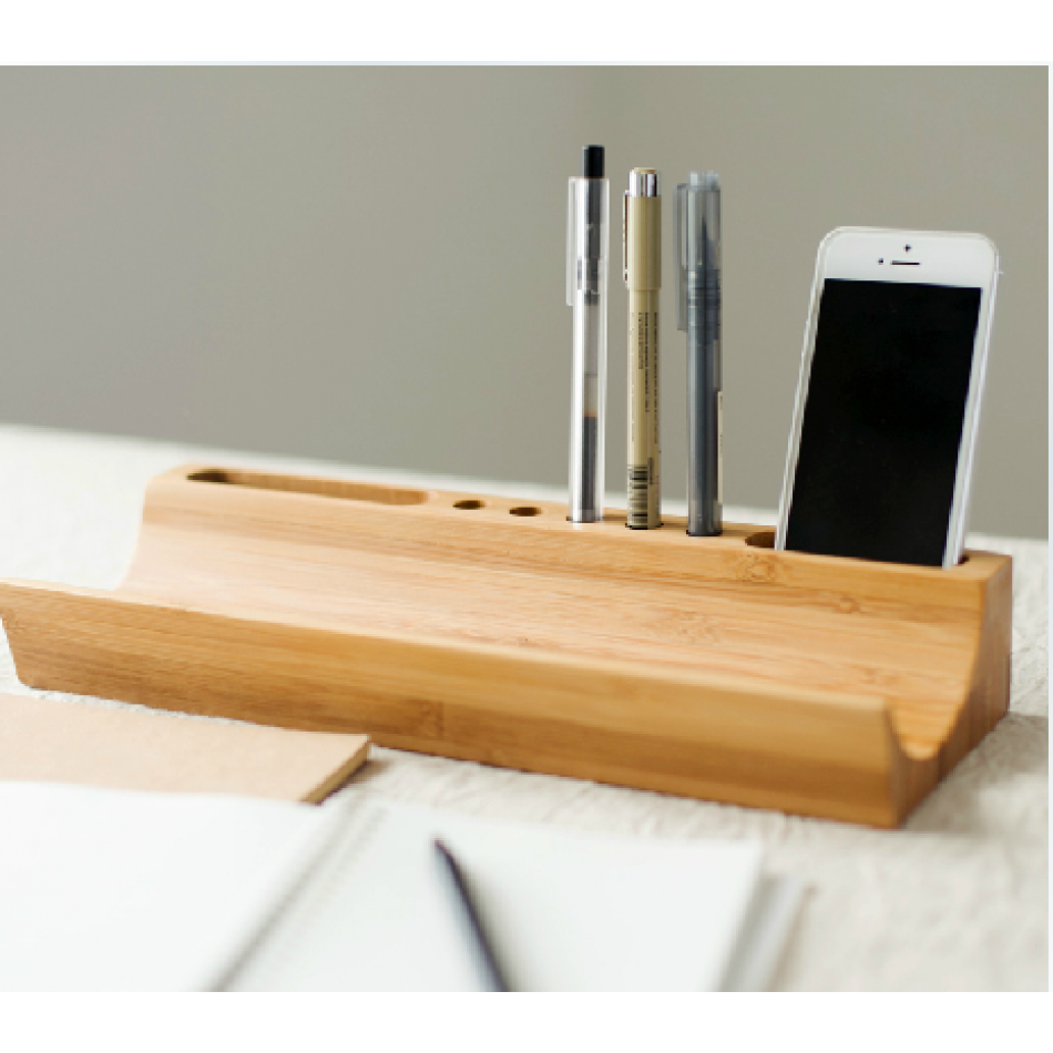 Stylish bamboo wooden desk organizer zen forest household design pinterest wooden desk - Bamboo desk organiser ...