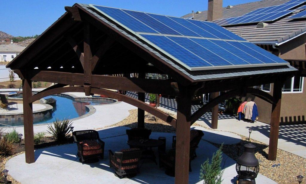 Patios · Pavilion Mounted Solar Panels