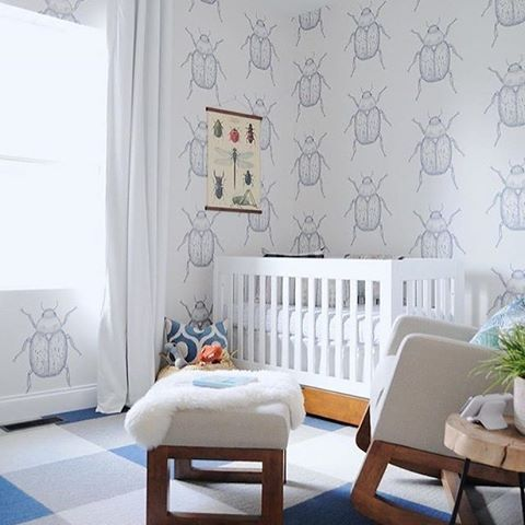 The one time it's totally OK to see bugs in the nursery!  Design by: @gohausgo