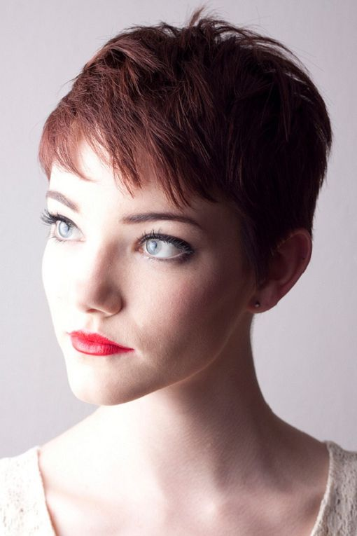 35 Gorgeous Women Red Hairstyles For 2013 Gallery Super Short Hair Really Short Hair Short Hair Styles Pixie