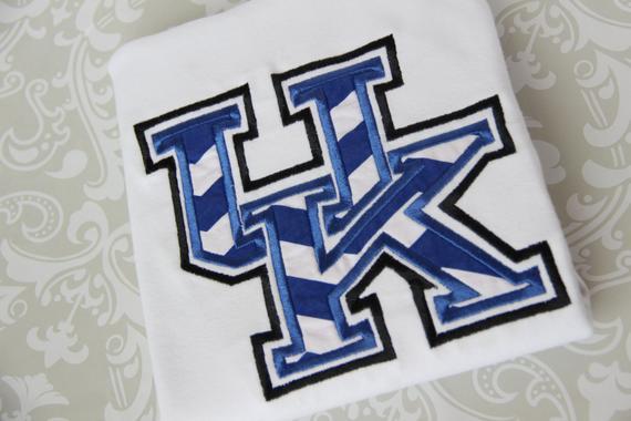 University of kentucky wildcat applique shirt cats