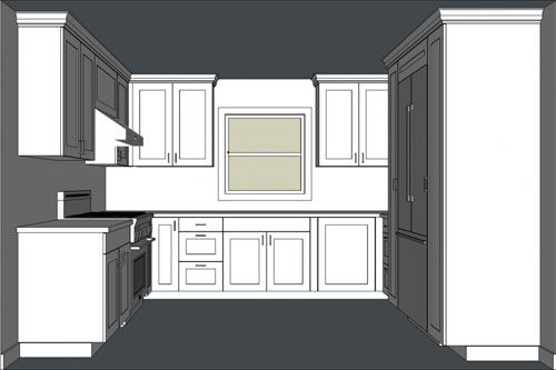 Designing Kitchen Cabinets With Sketchup Kitchen Cabinet Design