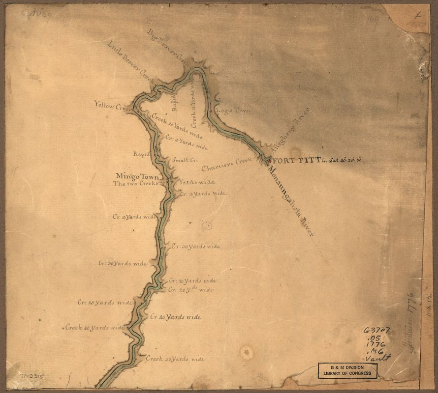 Map of the Ohio River from Fort