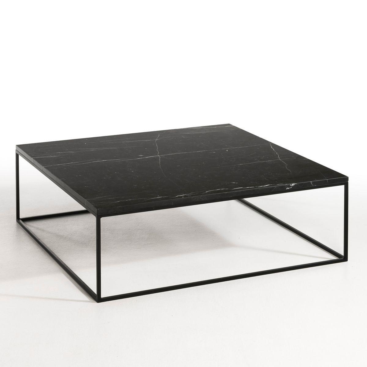 Table Basse Metal Noir Et Marbre Mahaut Marbre Noir Am Pm La Redoute En 2020 Table Basse Metal Table Basse Marbre Table Basse