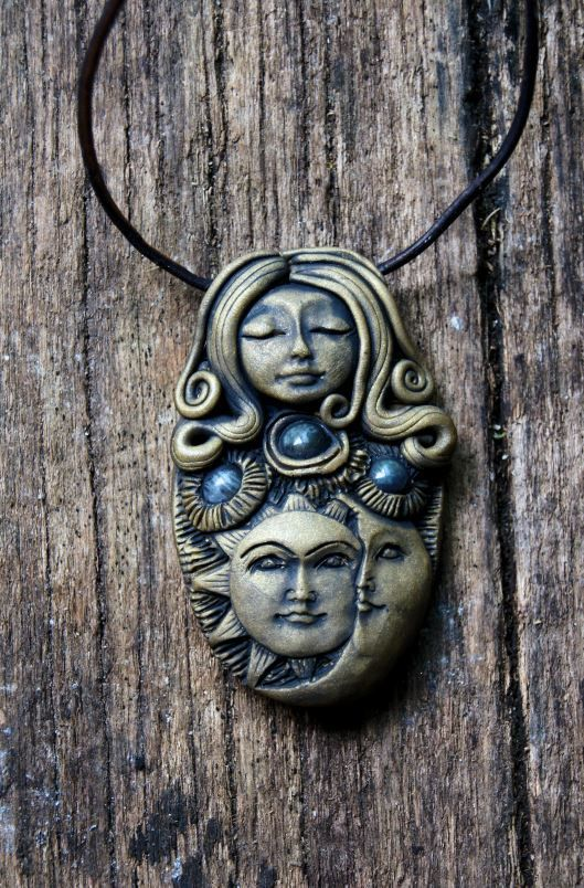 Celestial Goddess Necklace  Labradorite Gemstone by TRaewyn, $75.00