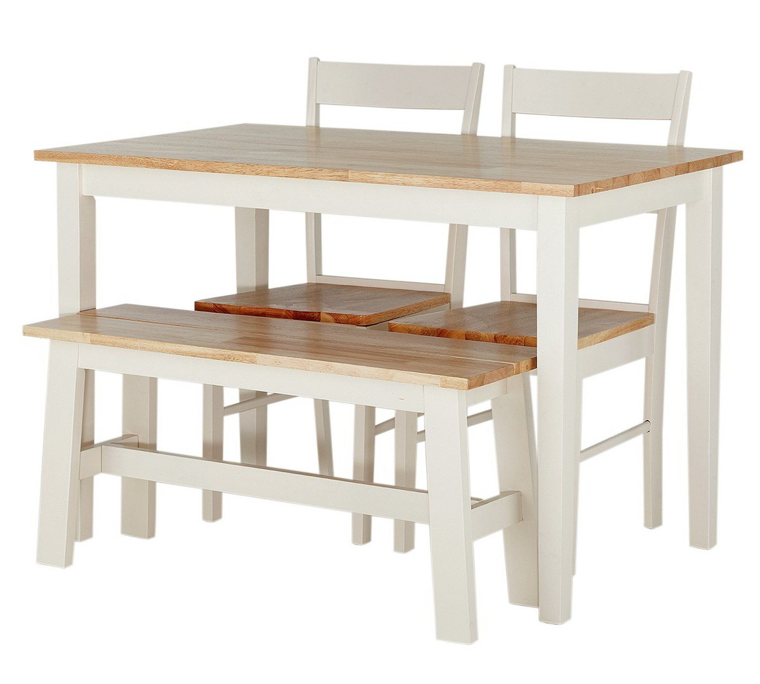 Buy Argos Home Chicago Solid Wood Table, 2 Chairs & Bench | Space Saving Dining Sets | Argos | Compact Table And Chairs, Space Saving Dining Table, Solid Wood Table