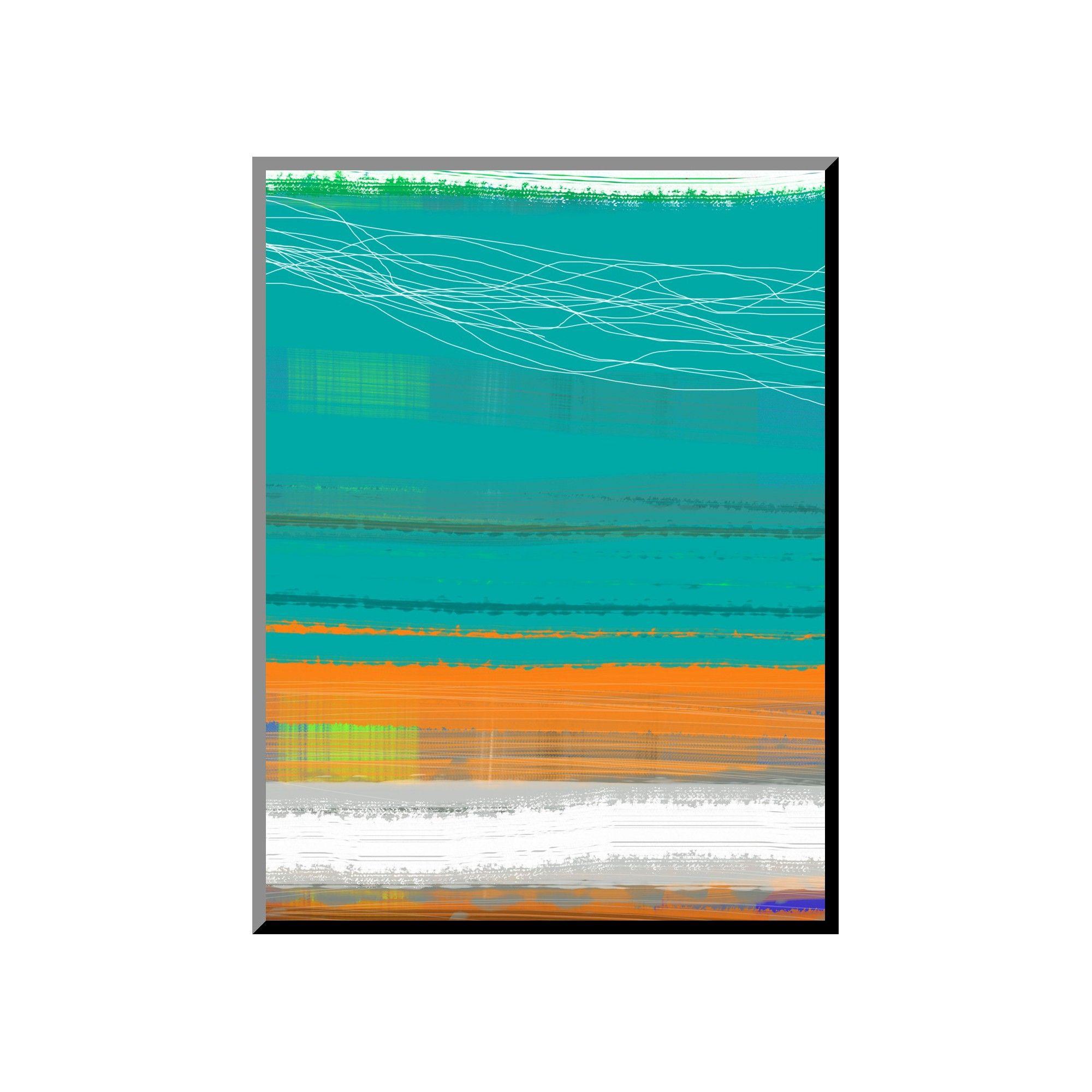 Art.com - Abstract Orange Stripe 2, Blue