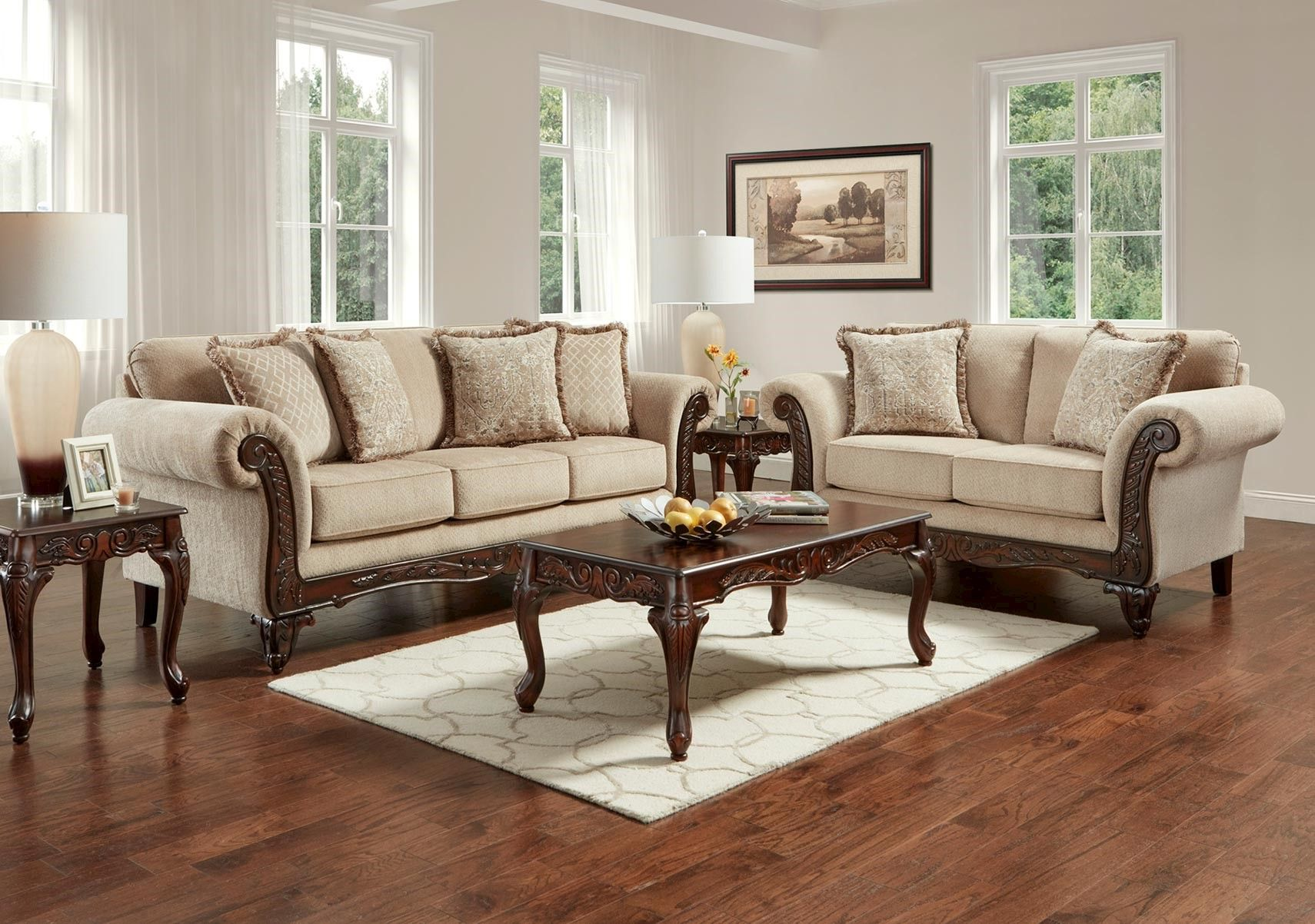 Lacks Emory 2 Pc Living Room Set With Images Living Room