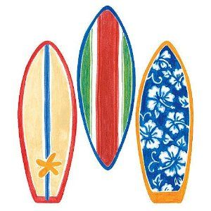 Wallies 12193 Surfboard Wallpaper Cutout