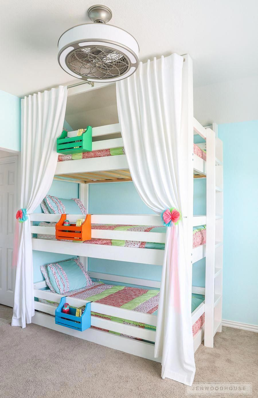 How To Build A DIY Triple Bunk Bed - Plans and Tutorial!