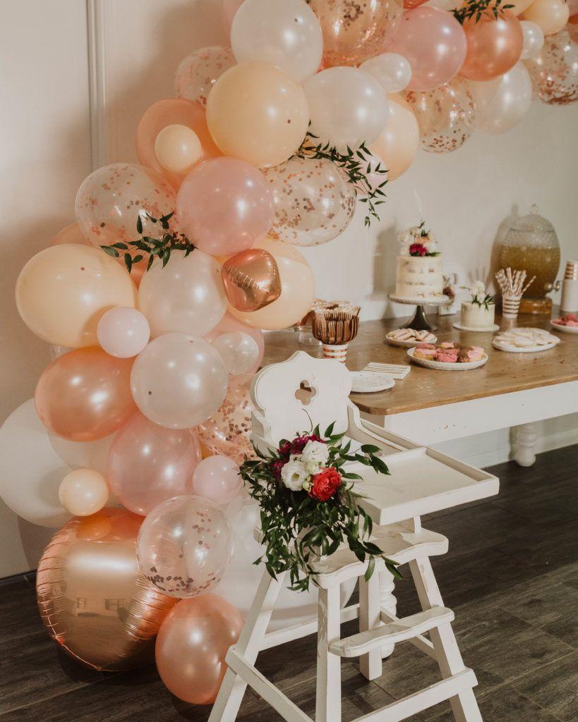 Pin by Tʜᴇ•Rᴇᴀʟ•Vɪᴀ on Parties Balloon garland, Rose