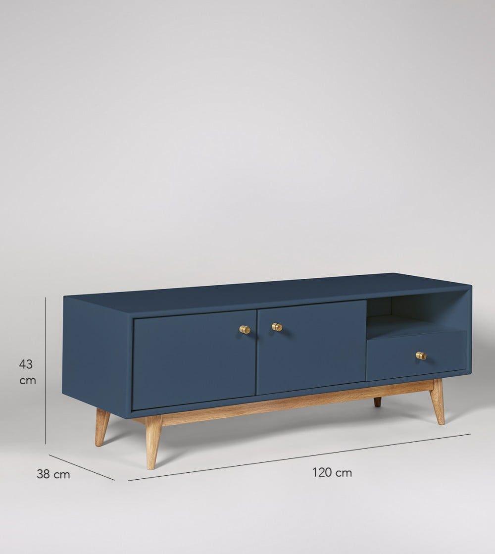 Thurlestone China Blue Tv Stand Swoon Desain Furnitur
