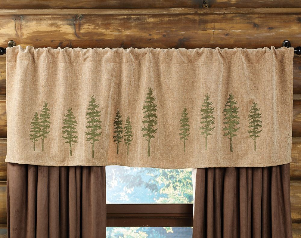 Curtain valances for windows and rods - Highlands Cabin Tree Rod Pocket Valance I Like How These Curtains Look