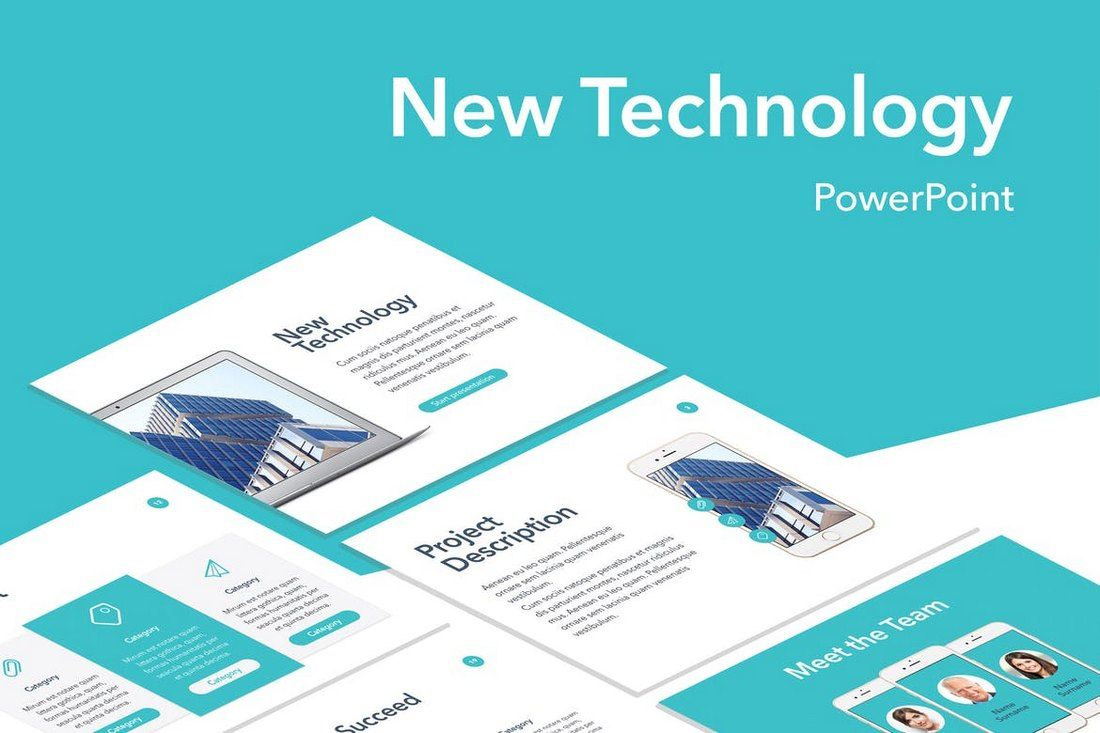 New Technology Powerpoint Template Presentation Templates