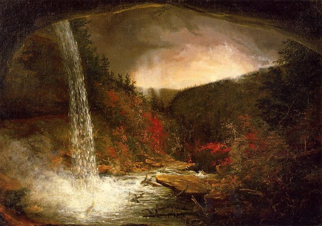 Thomas Cole (1801-1848), Kaaterskill Falls - 1826   Tableau automne, Romantisme, Les oeuvres