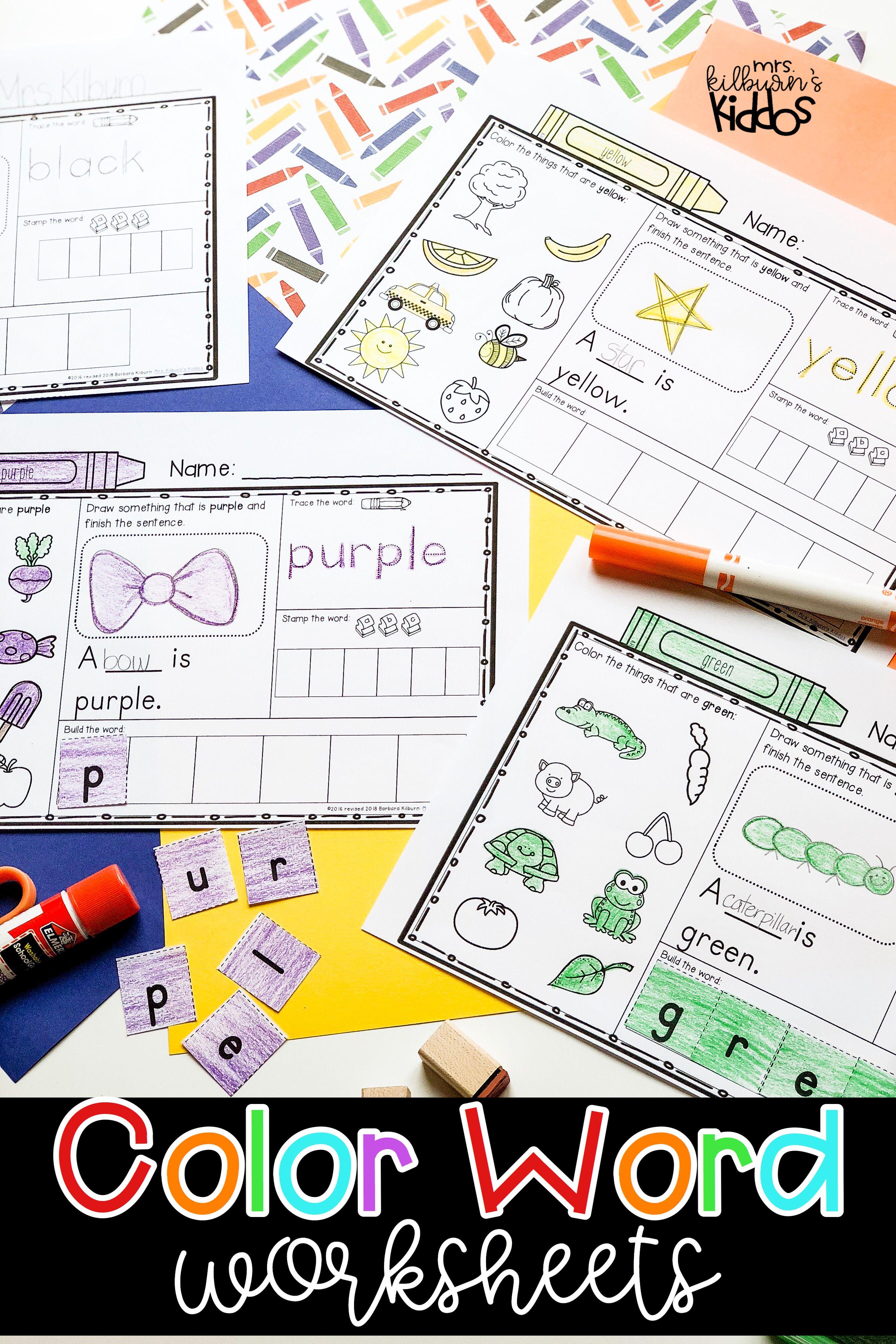 Color Word Worksheets